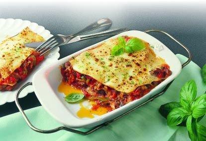 Kacsahússal töltött lasagna