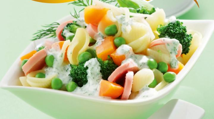 Zöldséges tésztasaláta